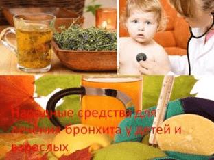 Народные средства для лечения бронхита у детей и взрослых
