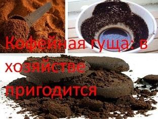 Кофейная гуща: в хозяйстве пригодится