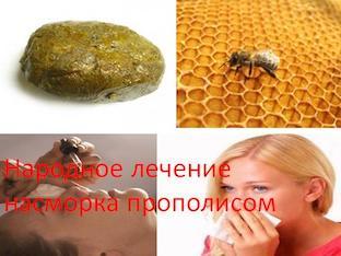 Народное лечение насморка прополисом