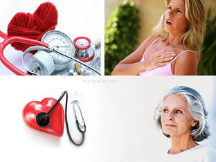 Сердечные заболевания у женщины во время климакса