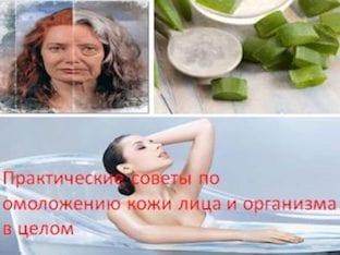 Практические советы по омоложению кожи лица и организма в целом